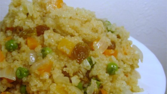 Quick Couscous with Raisins and Carrots