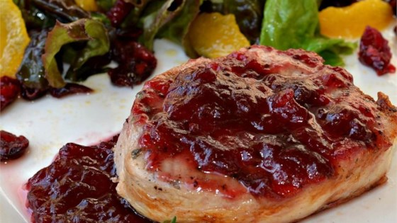 Photo of Pork Cutlets with Cranberry Wine Sauce by CZARDAS