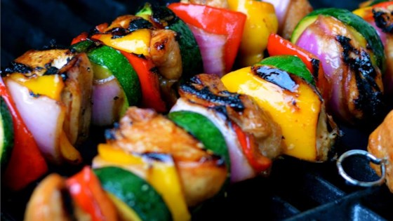 Photo of Yummy Honey Chicken Kabobs by Ann Marie