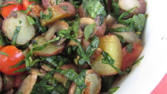 Photo of Baked Mushrooms and Potatoes with Spinach by Shawn Klein