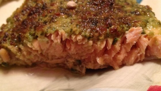 Photo of Stephan's Broiled Salmon Pesto by Stephan Schwartz