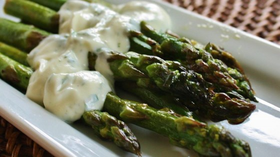 Photo of Grilled Asparagus with Cilantro Lemon Butter by Christine