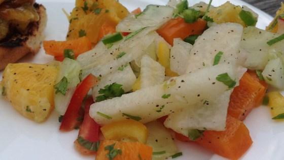 Photo of Refreshing Sweet and Spicy Jicama Salad (Vegan) by Lindsey Pfeiffer