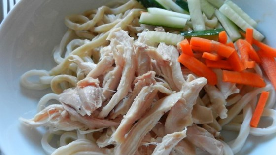 Chicken and Cold Noodles with Spicy Sauce