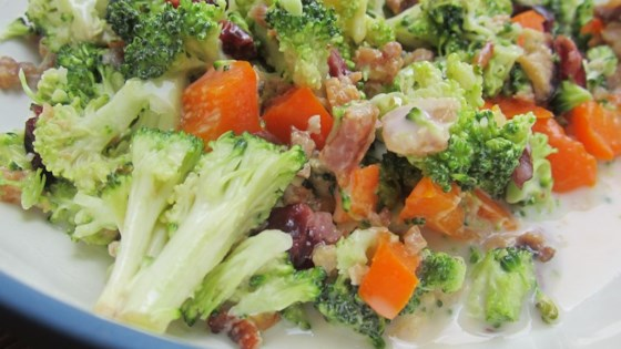 Photo of Sweet and Tangy Broccoli Salad by Dina