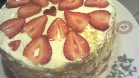 Photo of 6-Ingredient Strawberry Cake by juls99tiger
