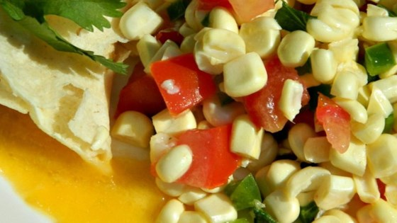 Photo of Fresh Corn Salsa with Orange and Lime by MATHGOD