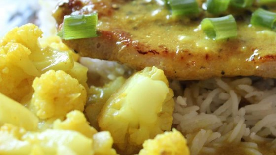 Photo of Curried Pork Chops and Cauliflower with Basmati Rice by Scott Koeneman