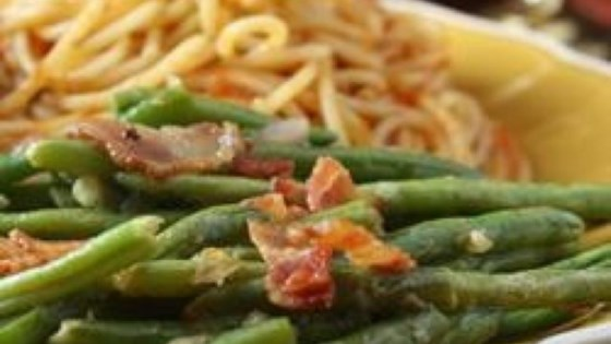 Photo of Green Beans With Shallot Dressing by Jen Wolpert
