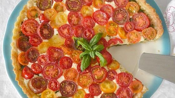 Photo of Heirloom Tomato Tart with Pesto and Mozzarella by lolalobato