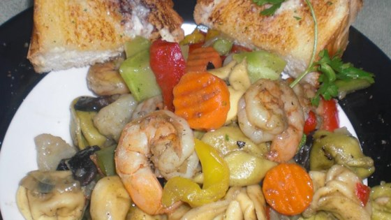 Photo of Shrimp and Vegetable Pasta Toss by The Sonoma Diet Online