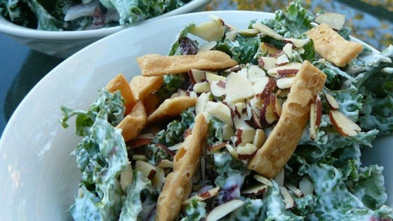 Photo of Creamy Kale Salad by QueenDump&Pour