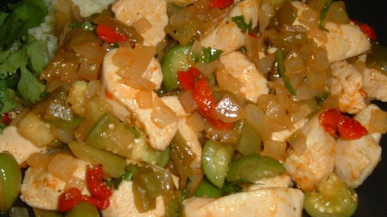 Photo of Chicken with Tomatillos and Poblanos by Suzanne