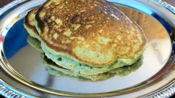 Photo of Green Oat Pancakes for St. Patrick's Day by morewithlessmom