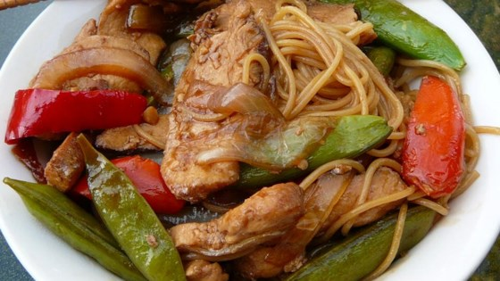 Pork lo mein recipe allrecipes photo of pork lo mein by kendra forumfinder Choice Image