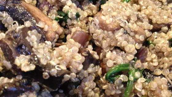 Photo of Quinoa with Mushrooms by Jen Cardenas