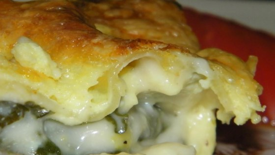 Photo of Sausage Spinach Alfredo Lasagna by Barb Abbey