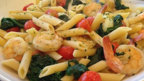 Photo of Sauteed Shrimp with Spinach, Tomatoes, and Spaghetti Squash by Cindy Anschutz Barbieri