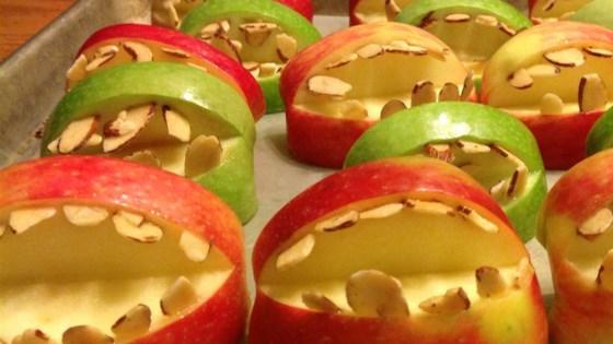 Photo of Halloween Fruit Apple Teeth Treats by Jen