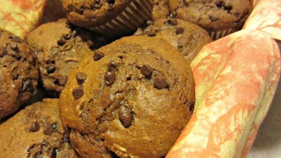 Photo of Pumpkin-Dark Chocolate Chip Muffins by Cactus Kim's Kitchen