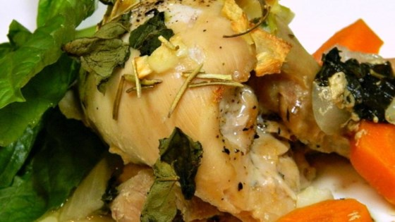 Photo of Garlic and Basil Baked Chicken Thighs by scottjolened