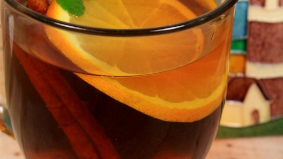 Hot Spiced Cider with Orange