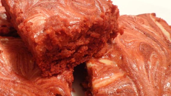 Photo of Red Velvet Brownies with Cream Cheese Frosting by jenalee75
