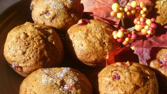 Photo of Cranberry Pumpkin Muffins by iamblessedx7