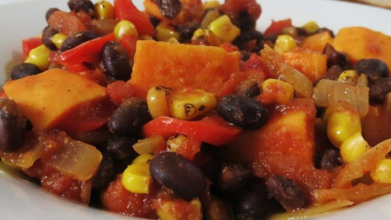 Photo of Slow Cooker Sweet Potato Chili by Steph
