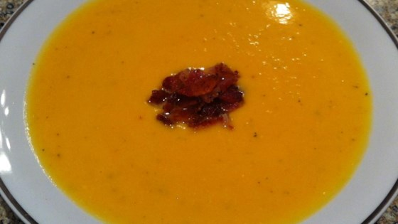Photo of Roasted Butternut Squash and Sweet Potato Bisque with Smoked Applewood Bacon by Donald