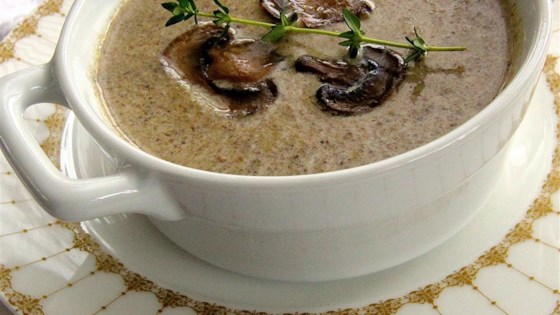 Photo of Chef John's Creamy Mushroom Soup  by Chef John