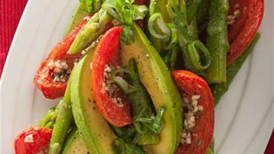 Photo of Asparagus, Avocado and Slow-Roasted Tomato Salad by Avocados from Mexico