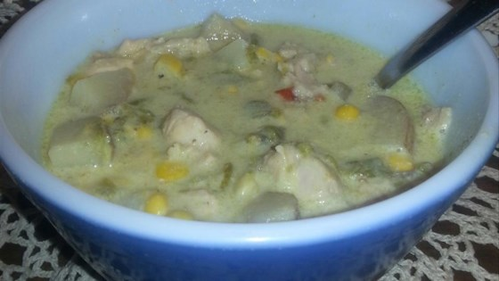 Papa Dar's Green Chile and Chicken Corn Chowder