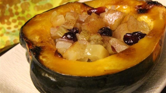 Baked Acorn Squash with Apple Stuffing