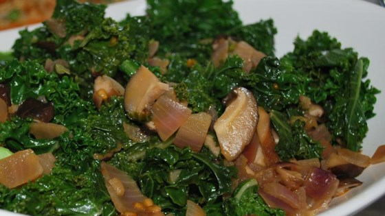 Photo of Kale and Mushroom Side by alluvcooking