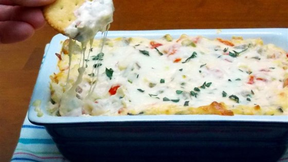 Photo of RITZ White Pizza Meatball Dip, created by Lombardi's Pizza by RITZ Crackers
