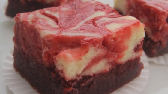 Photo Of Red Velvet Cheesecake Swirl Brownies By Squeeziebrb