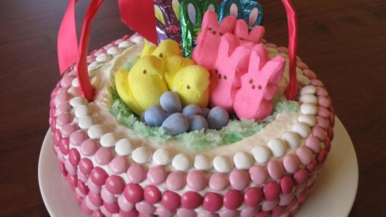 Easter basket cake recipe allrecipes photo of easter basket cake by valerie cain cuff negle Gallery
