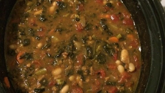 Photo of Vegetarian Pumpkin Spinach Chili by Dani