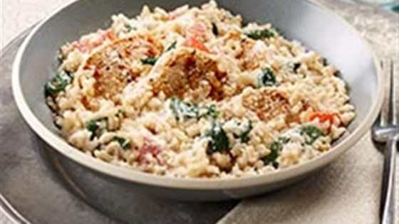 Photo of Creamy Rice, Chicken and Spinach Dinner by Philadelphia
