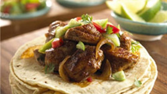 Photo of Pork Carnitas with Cilantro Tomatillo Sauce by Mazola