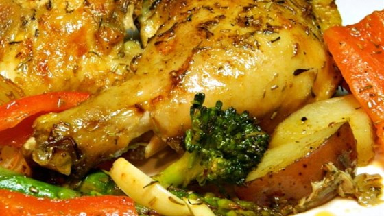 Photo of Book Club Herb Roasted Chicken and Vegetables by Risa