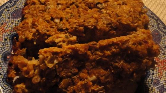 Photo of Vegetarian Meatless Meatloaf with Lentils by sminckler