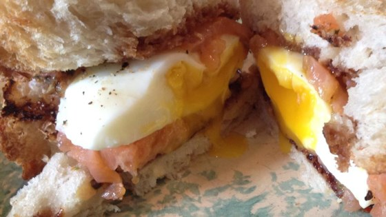 Photo of Smoked Salmon Sandwich with Poached Egg by Mel