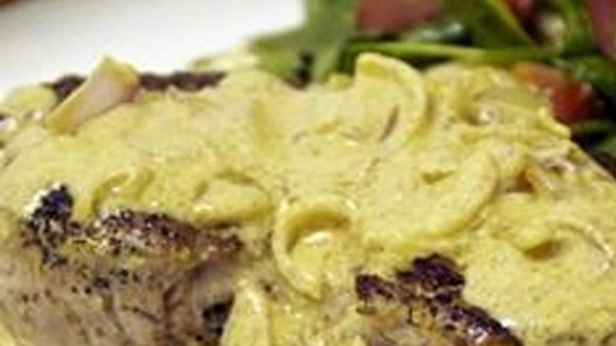 Boneless Pork Chop with Shallot Mustard Sauce