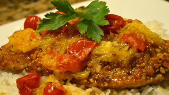Photo of Almond Crusted Chicken with Tomato Citrus Sauce by Justin Parrott