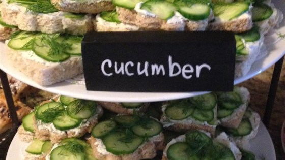 Photo of Easy Cucumber Party Sandwiches by LINNBENN