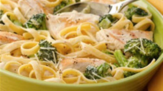 Photo of Chicken and Broccoli Fettuccini Skillet Dinner by Mazola