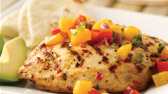 Photo of Spicy Grilled Chicken with Mango Salsa by Mazola