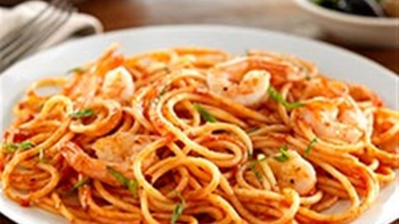Photo of Spaghetti with Shrimp and Tomato and Basil Sauce by Barilla